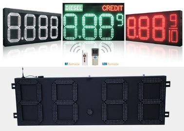 China Gas Station Digital Led Gas Price Signs With Controller Remoter , Wide Viewing Angle distributor