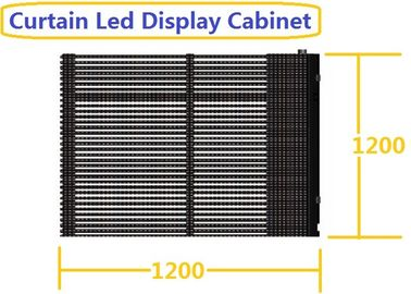China Vertical Flexible Led Display Static RJ45 Wind Resistance W 1200 X H 1200 X 176 MM factory