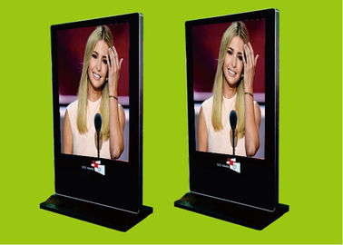 China 1920x1080 Slim Android Freestanding Digital Poster / Plug & Play Digital Advertising Display factory