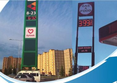 China Single Color LED Fuel Price Signs / Mobile Electronic Message Boards steel Cabinet distributor