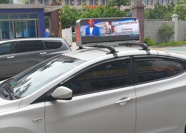 China Dual Sides Programmable Taxi Led Display , IP65 Level Rgb Taxi Led Screen factory
