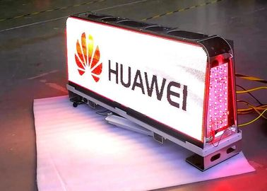 China 1/12 Scan Outside Led Taxi Sign / Car Led Sign Display High Brightness factory