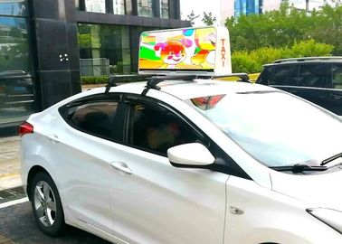 China Aluminum Automatic Outdoor Custom Taxi Led Display Light Weight 5 Mm Pixel Pitch factory
