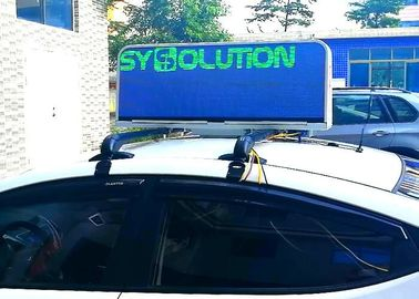 China Mobile Advertising Taxi Top Led Display , Waterproof Full Color Led Sign For Car distributor