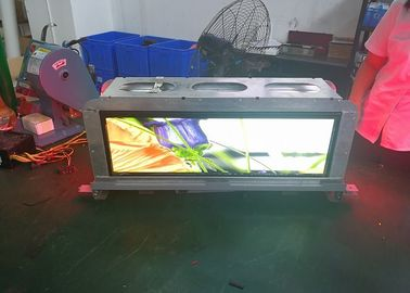 China Slim Advertising P3.33 Taxi Top Led Display Screen Weatherproof And Safe Cabinet factory
