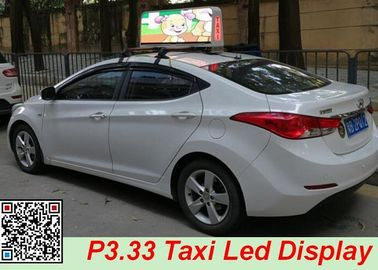 China 5500 Nits 29 Inch Taxi Top Led Display , Led Taxi Sign High Resolution distributor