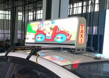 China IP66 Protection Taxi Top Led Sign Media Advertising , Led Taxi Display Long Life distributor