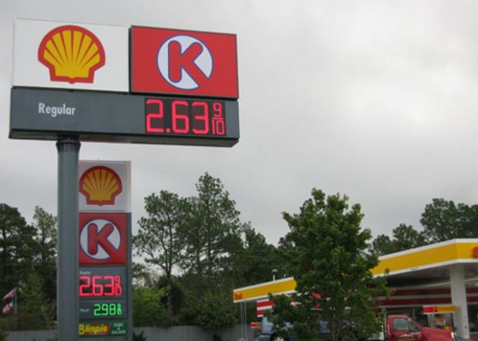 Weatherproof  Digital Price Led Gas Station Signs for Oil Station Advertising