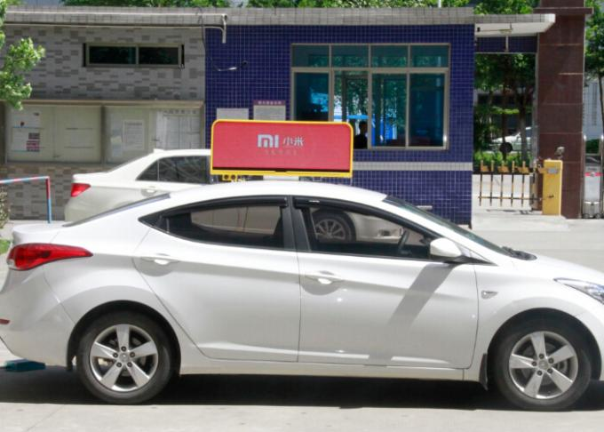 SMD Advertising Digital Taxi Top Led Display , taxi top led sign Epistar Red chip